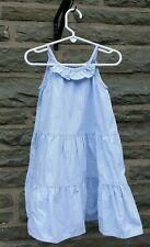 Oshkosh Cotton Summer Dress / Sundress - Blue & White Stripe -  Size 24M
