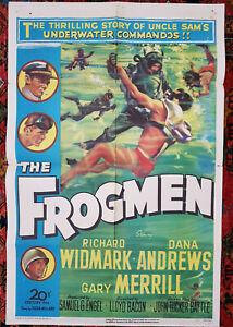 THE FROGMEN (1951) Rare Original US One Sheet Movie Poster