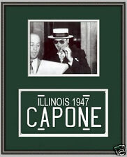 Scarface Al Capone photo with 1947 Illinois License plate