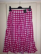 Gorgeous Pink And White Check Skirt Size 10 BNWT