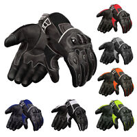 Oro Biker Motorbike Motorcycle Gloves, Leather & Summer Mesh Touch Screen Gloves