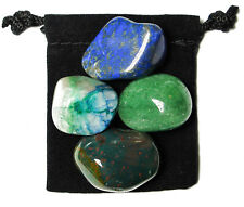 LEUKEMIA FIGHTER Tumbled Crystal Healing Set = 4 Stones + Pouch + Card