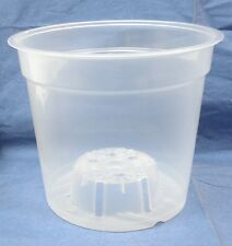 6 Inch Round Clear Plastic Orchid Pot - 5/ Pack