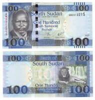 UNC SOUTH SUDAN 100 Pounds (2017) P-15c