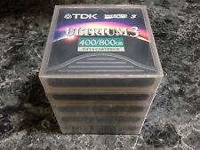 LOT OF 5 NEW & SEALED TDK LTO ULTRIUM 3 TAPE DATA CARTRIDGE 400GB D2406-LTO3