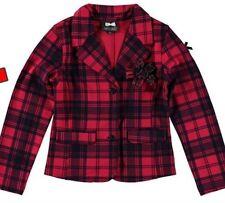 S&D Le Chic Baby Girl Hot Pink/navy Tartan Check Jacket Blazer Coat 12-18m £45