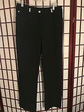 St John Sport Black Stretch Jeans pants Size 10