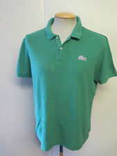 "Genuine Vintage Lacoste men's Green Polo Shirt Size 42-44"" L Euro 52-54"