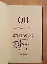 SIGNED - QB : My Life Behind the Spiral by Steve Young HC NFL 49ers HOF