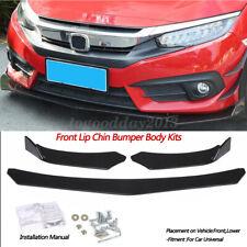 Universal Black Front Bumper Lip Body Kit Spoiler For Honda Civic Bmw Benz Mazda Fits Cayenne