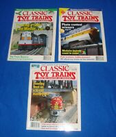 Classic Toy Trains Magazine Lot of (3) All from the Year 1996