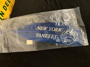 RARE RARE RARE Vintage Baseball New York Yankees Worlds Series Feather 1930's
