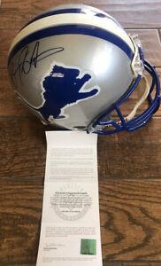 Barry Sanders Signed Autograph  Detroit Lions T/B Proline Helmet   Upper Deck