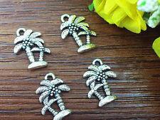 12pcs coconut tree Tibetan Silver Bead charms Pendants DIY jewelry 18x15mm