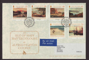 Isle of Man 2004 FDC - Watercolours by Alfred Heaton Cooper  - with 6 stamps