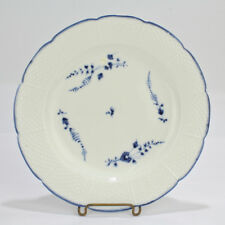 Antique 18th Century Chantilly French Porcelain Blue Sprig Pattern Plate - PC