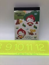Vintage New Sanrio Original Hello Kitty Red Riding Hood Note Pad Paper Notepad