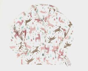 Carters Just One You Girls Pajama Top Size 5T Fleece Christmas Reindeer NWT