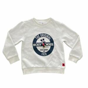 UNISEX WHITE DISNEY STORE MICKEY MOUSE EMBROIDERED JUMPER 5-6 YEARS