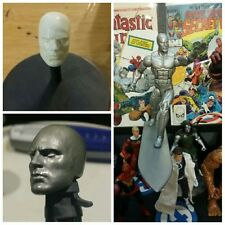 Marvel Legends Custom Silver Surfer Head Cast UNPAINTED.