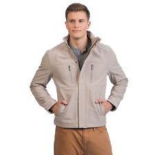 NEW Kenneth Cole Reaction Men's Beige Oatmeal XLarge Soft Shell Full Zip Jacket