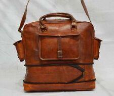 Leather Bag Vintage Travel Duffle Overnight Gym Weekend Genuine Luggage New