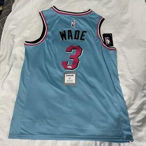 Dwayne Wade Autographed Nike Miami Vice Swing man Jersey W/COA