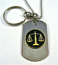Scales of Justice car/truck Charm Rear View Mirror Key Ring Sun Catcher dog tag