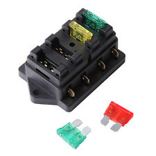 12V/24V Fuse Holder Box Block 4 Way Car Vehice Circuit Automotive W/ 4 Blade