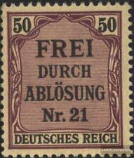 alemán Imperio D8 nuevo con goma original 1903 sello oficial