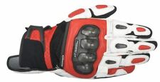 Alpinestars SPX Air Carbon Black White Red Leather Motorcycle Gloves Size - Small 3567316123s