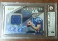2012 Panini Absolute Andrew Luck Auto Patch #d/49 RC RPA Star Gazing SP BGS 9