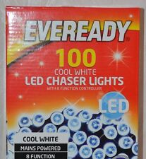 Eveready 100 LED Chaser Christmas Serial String Light -Cool White Deco Outdoor