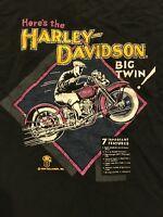Vintage 1989 Holoubek Harley Davidson Shirt Size XL Big Twin