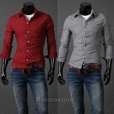 Unbranded Cotton Checked Formal Shirts for Men