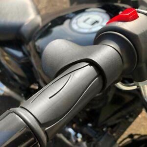 2x  Motorcycle Throttle Assist Clamp Aid Cruise Control Handlebar Grip Black