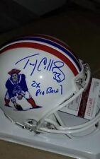 Tony Collins, New England Patriots signed Riddell Mini Helmet w/JSA