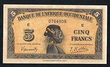 5 FRANCS BANQUE DE L'AFRIQUE OCCIDENTALE 14/12/1942