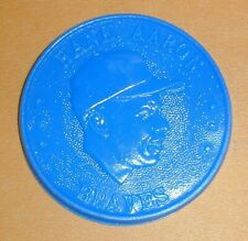 1960 Hank Aaron Armour Baseball Coin Dark Blue Excellent Condition