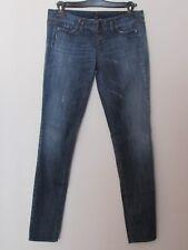 Benetton - Jeans donna modello Slim, taglia 30 colore blu jeans