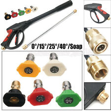 Durable 3000PSI High Pressure Power Washer Spray Nozzle Water Gunwith 5 Nozzles