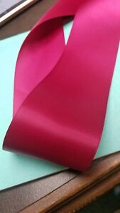 """15 Yds DOUBLE FACE RASPBERRY SATIN  RIBBON  7/8"""" Wide"""