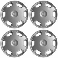 """4 PC Hubcaps fits 09-15 Nissan Cube 15"""" Silver Replacement Wheel Rim Skin Cover"""