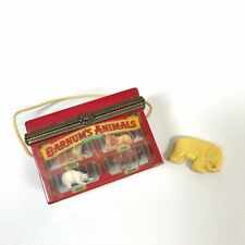 Barnum's Animals Crackers Porcelain Trinket Box w/ Elephant Vintage
