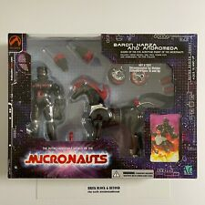 Palisades Micronauts Baron Karza and Andromeda Original Black Red Version MIB