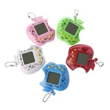 Virtual LCD Digital Pet Electronic Game Machine Toy Apple Shape With Keychain