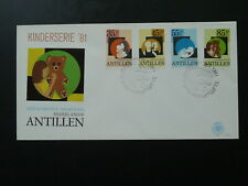 teddy bear child 1981 FDC Netherlands Antilles 87145