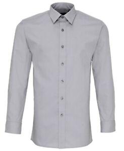 Premier Poplin Fitted Long Sleeve Shirt - PR204