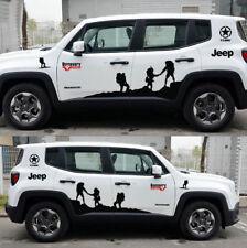 Graphics Bonnet Climber Car Sticker Side Skirt Stripe Decal For Jeep Renegade