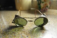 1920's 30's Vintage American Optical Company Sunglasses Leather Sunshades